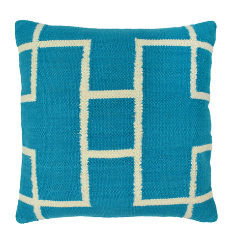 Geometric Pillow, Turquoise