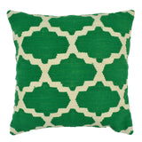 "Trellis 20"" x 20"" Pillow, Green"