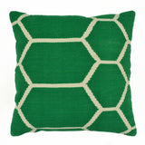 "Hexagon Pillow 20"" x 20"", Green"