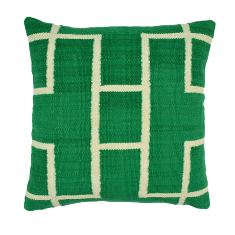 Geometric Pillow, Green