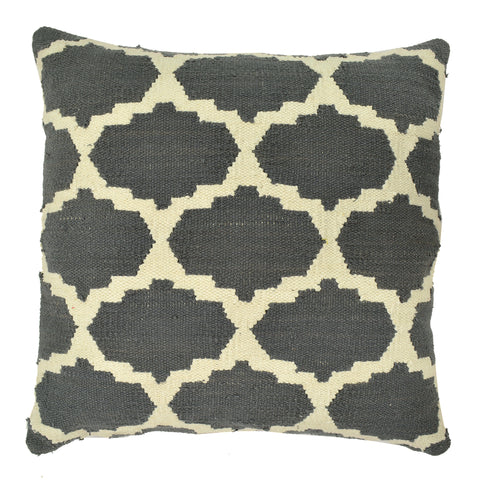 "Trellis 20"" x 20"" Pillow, Dark Gray"