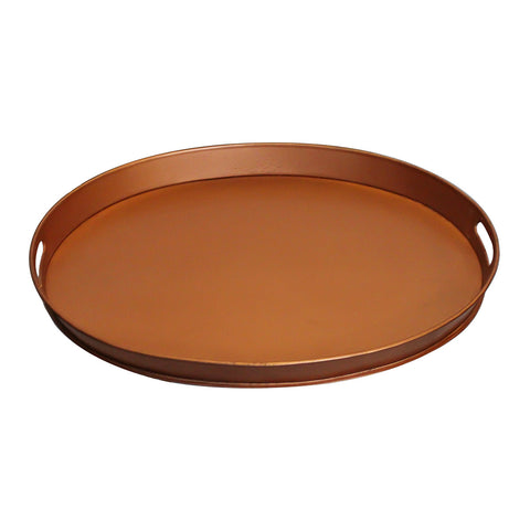 Tumbaga Iron Tray Medium, Antique Copper