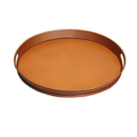 Tumbaga Iron Tray Small, Antique Copper