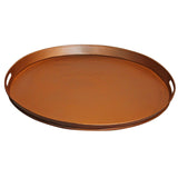 Tumbaga Iron Tray Large, Antique Copper