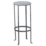 Entika Antiqued Metal Table Medium, Gray Wash