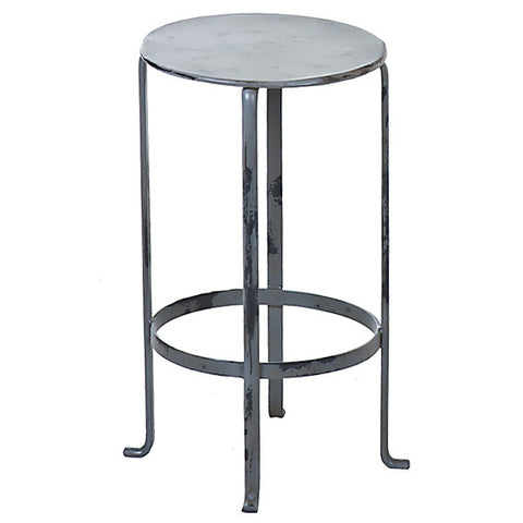 Entika Antiqued Metal Table Small,  Gray Wash