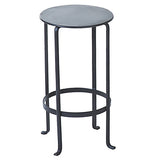 Entika Antiqued Metal Table Small, Gun Metal