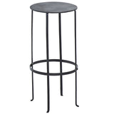 Entika Antiqued Metal Table Large, Gun Metal