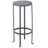 Entika Antiqued Metal Table Medium, Gun Metal