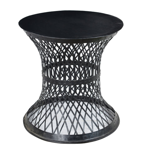 Bunana Metal Weave Table, Acid Wash