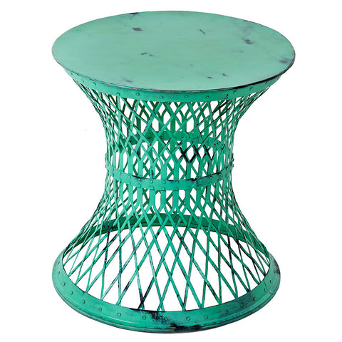 Bunana Metal Weave Table, Green