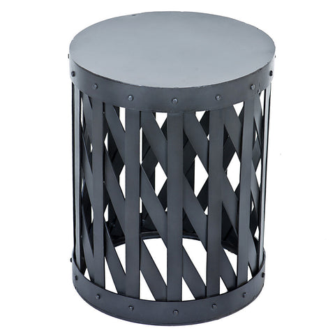 Mala Industrial Stool, Gunmetal