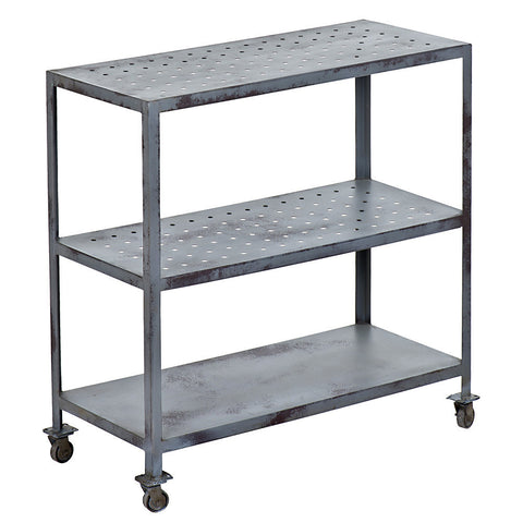 Cheda Industrial Trolley, Gray Wash