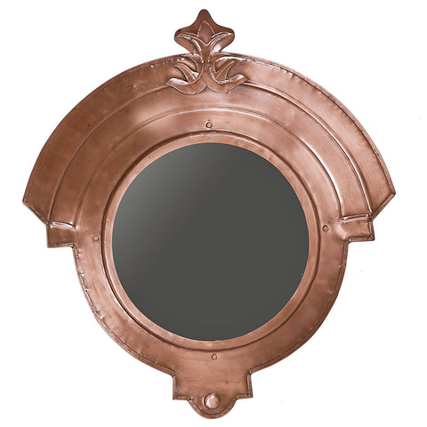 Gladiator Iron Mirror Frame, Antique Copper