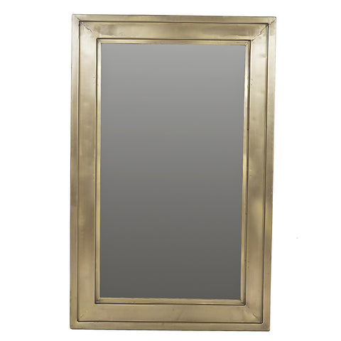 Lucilla Iron Mirror, Antique Brass