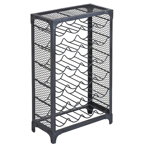 Tigris Wine Rack, Gun Metal