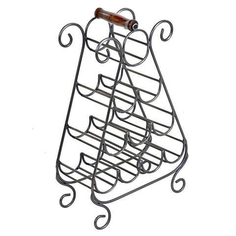 Falco Wine Rack, Antique Nickel