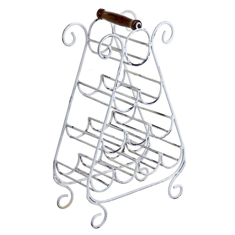 Falco Wine Rack, Whitewash