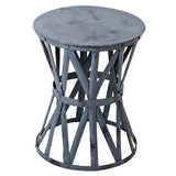 Roman Iron Stool, Gray Wash