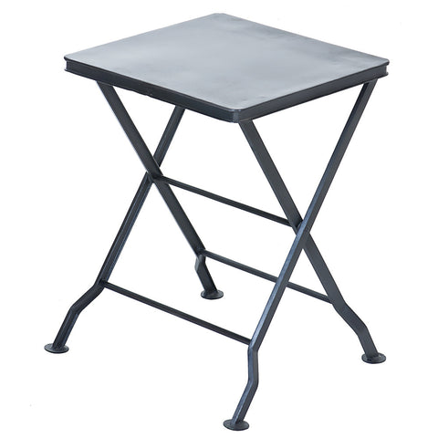 Commodus Folding Stool, Gunmetal