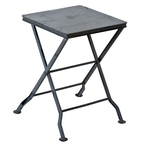 Commodus Folding Stool, Gray Wash