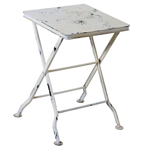 Commodus Folding Stool, Whitewash