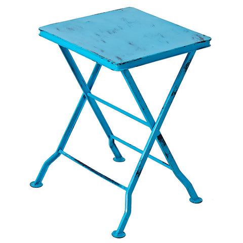 Commodus Folding Stool, Turquoise