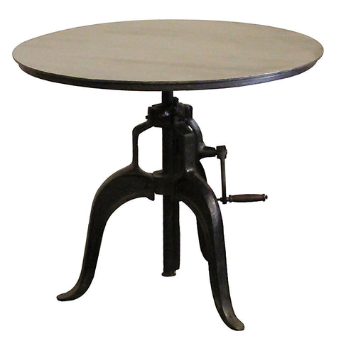 "Rockwell Crank Table 36"" Round, Black"
