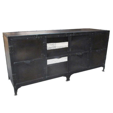 Joey Industrial Media Stand, Rustic