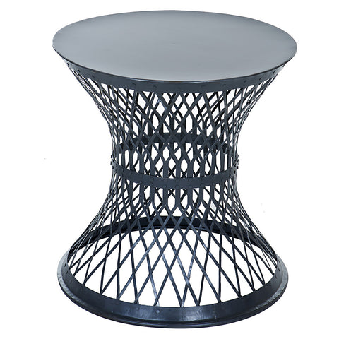 Bunana Metal Weave Table, Gun Metal