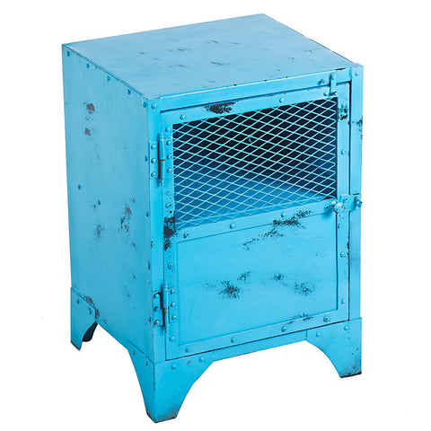 Cassius Iron Bedside Table, Turquoise