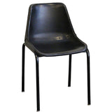 Bowman Iron Leather Chair, Black