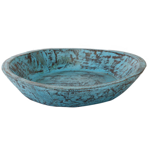 Wooden Parat Bowl, Blue