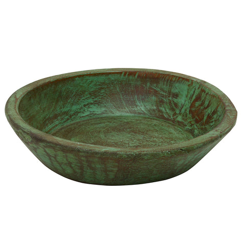 Wooden Parat Bowl Small, Green