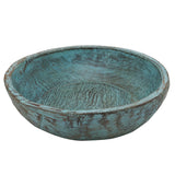 Wooden Parat Bowl Small, Blue