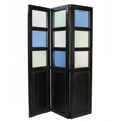 Colored Room Divider, Black Crackle