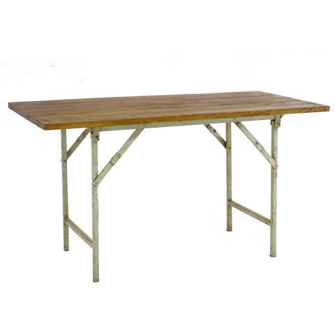 Iron and Wood Dining Table