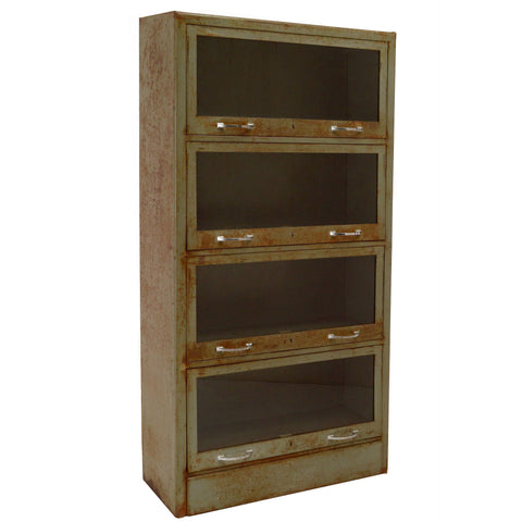 Antique Barrister Bookcase, Green