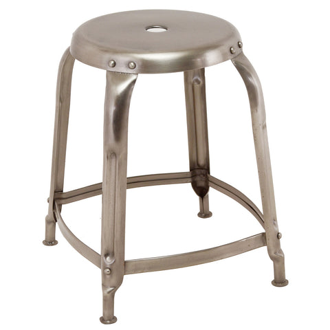 Iron Stool, Antique Nickel