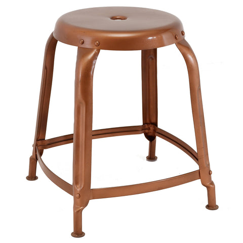 Iron Stool, Antique Copper
