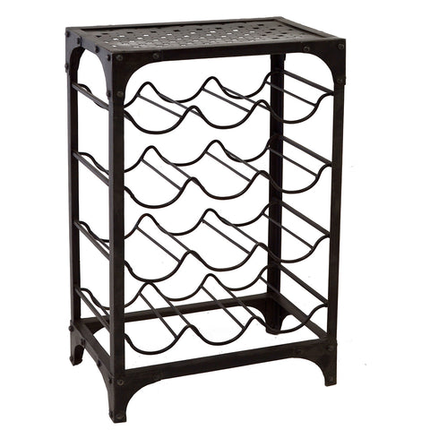 Iron Wine Rack, Acid Wash