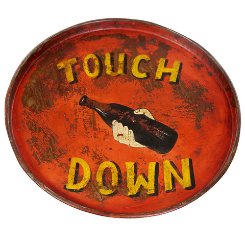 Painted Iron Round Tray, Touch Down
