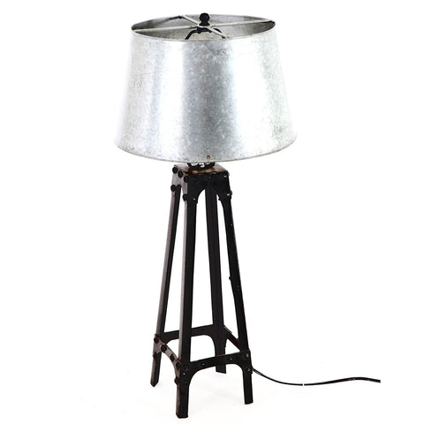 Galvanized Table Lamp