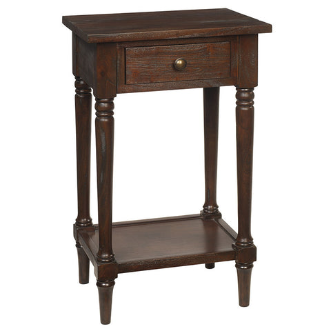 Gino Pedestal Table, Light Mahogany