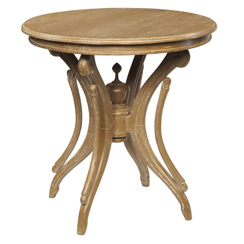 Clove Round Accent Table, Natural