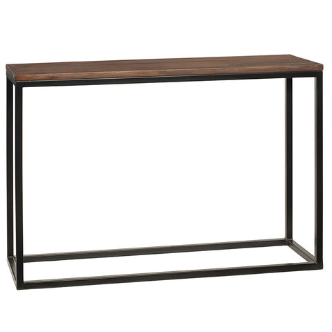 Burlington Iron & Wood Console Table Medium, Light Mahogany