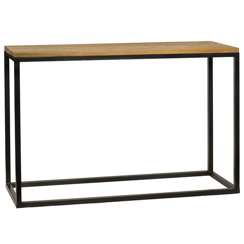 Burlington Iron & Wood Console Table Medium, Natural