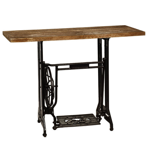 Sewing Machine Table, Dark Mahogany