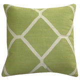 "Diamond Pillow 20"" x 20"", Light Green"
