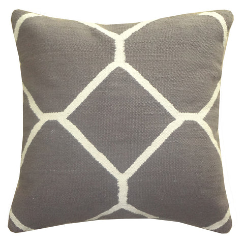 "Diamond Pillow 20"" x 20"", Gray"